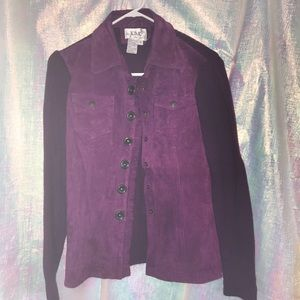Live a Little women's suede leather jacket size M